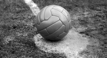 14th May 1966:  The ball on the centre spot of the pitch awaiting the kick-off of the FA Cup final between Everton and Sheffield Wednesday at Wembley Stadium.  (Photo by George Freston/Fox Photos/Getty Images)